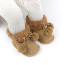 Модные детские теплые ботинки нескользящая обувь для младенцев