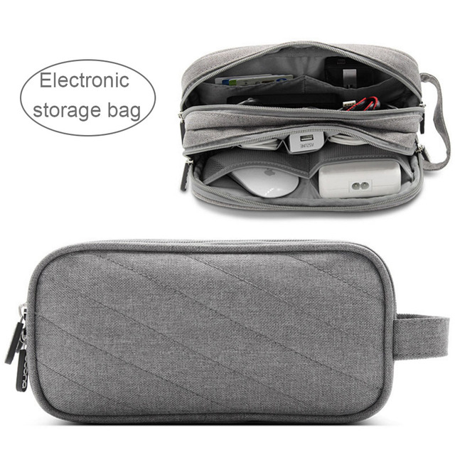 Acoki Laptop Power Mouse Line Storage Bag Digital Accessories Charger USB Data Cable Earphone Wire pen HDD Organizer