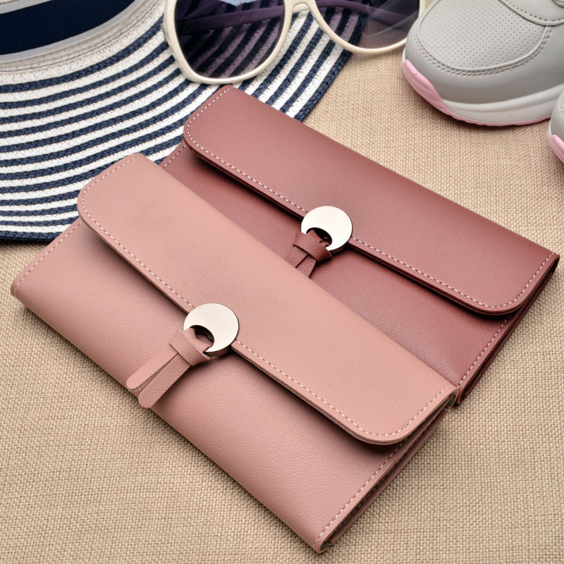 Women Wallets Clutch Female Party Long Fashion High-Quality Lady Card-Holder PU And