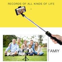 Selfie-Stick Bluetooth Remote-Tripod K10 Extendable Mobile-Phone-Accessories Smart Wireless