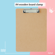 Office Supplies Thick Wooden HangingA4Plate Holder Folder Pad Tablet Clip Plate Holder Flat Plate Holder Factory Direct