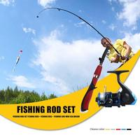Hot Sale Rod Combo Delicate Design FRP 6 Section Mini Casting Fishing Rod Low Profile Baitcasting Fishing Reel Set|Rod Combo| |  -