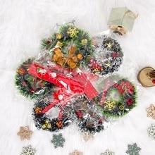 Buy 12cm Creative Christmas PVC Mini Wreath Christmas Red Fruit Gift Wrap Hanging Pendant Vianocne Dekoracie Decoracion HogarCM directly from merchant!
