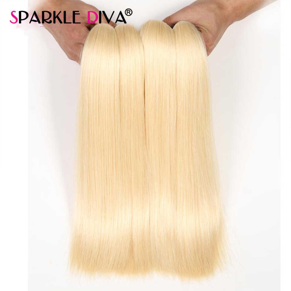Extensiones de cabello humano Rubio 613, extensiones de pelo ondulado brasileño liso, extensión de cabello humano 613 rubio miel, cabello Remy de 30 32 pulgadas
