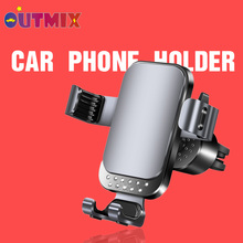 Car Phones Holder For iPhone 11 Car Air Vent Mount Stand Universal Mobile Holder For Huawei Xiaomi Smartphone Gravity Bracket creative f1 racing car style adjustable support holder for mobile phones green