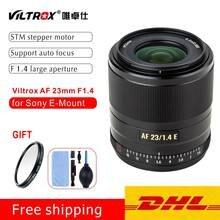 Viltrox 23mm f1.4 lente de foco automático APS-C compacto grande abertura lente para sony e-mount câmera a6000 a6300 a6600
