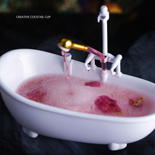 Bathtub Cocktail Bar Wine Glasses Charms Sorbet Smoothie Cold Drink Cup Container TP-Hot