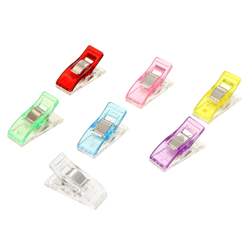 100Pcs/box Quilt Clip High quality Small Clips DIY Crafts Patchwork Sewing accessories Multicolor clothespin windproof clip