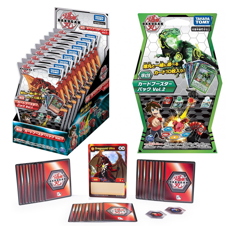 Takara Tomy Bakguan Trading Card Game TCG 016 Vol.1 028 Vol.22  Board Game Card Collections Kids Gifts Battle Brawlers Bakucore