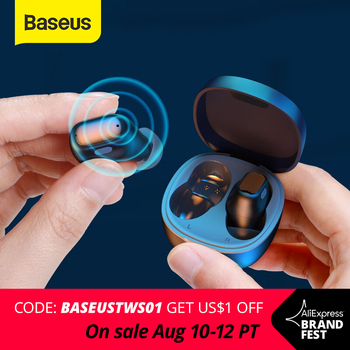 Baseus WM01 TWS Bluetooth Earphones Stereo Wireless 5.0 Bluetooth Headphones Touch Control Noise Cancelling Gaming Headset zealot b21 bluetooth 4 0 stereo bass hifi headphones touch contorl noise cancelling portable wireless sports headphone earphones