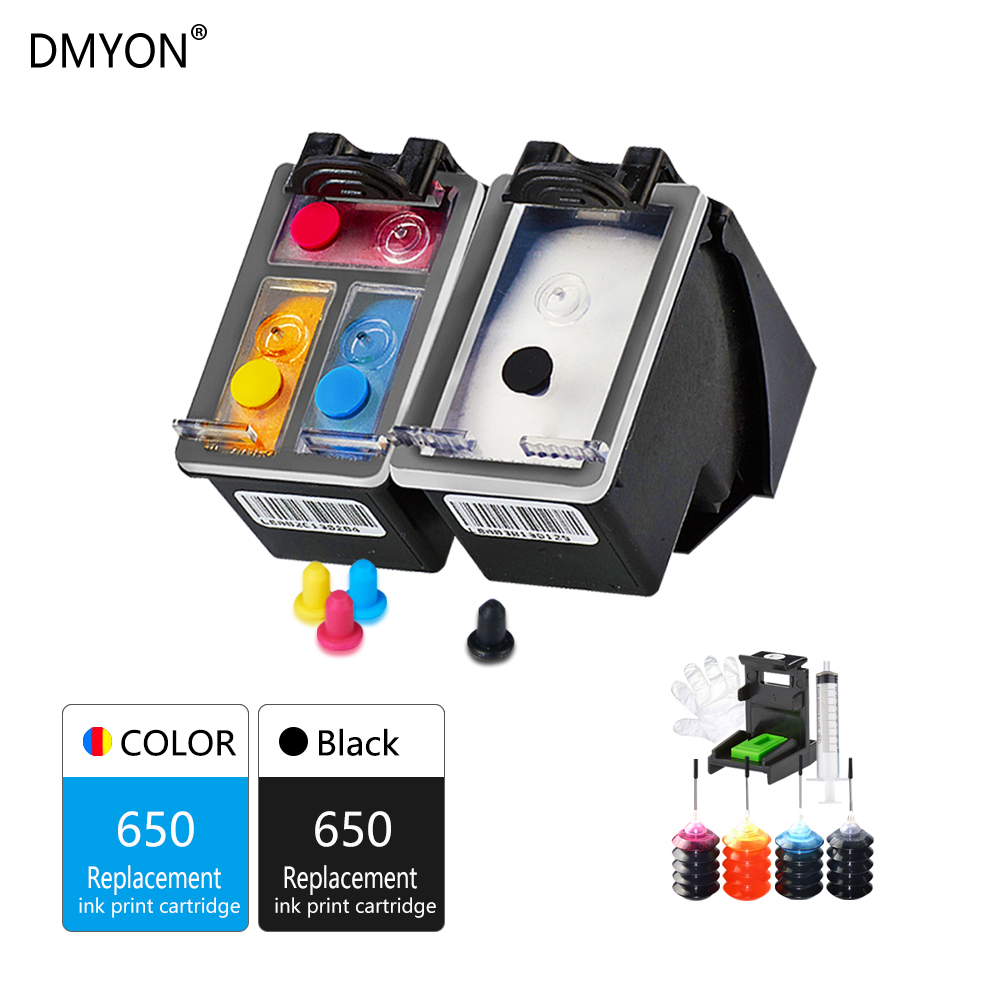 Refillable Ink Cartridge for HP 650 650XL For 1015 1515 2515 2545 2645 3515 4645 Printer