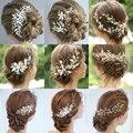 Свадебный гребень для волос, зажим для волос, свадебные аксессуары для волос, стразы, цветы, тиара, повязка на голову, украшения для волос