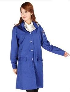 Для женщин стиль серебро волокна электромагнитного излучения пальто с крышкой, компьютерный зал, электрические завода EMF Экранирование, RFID ...