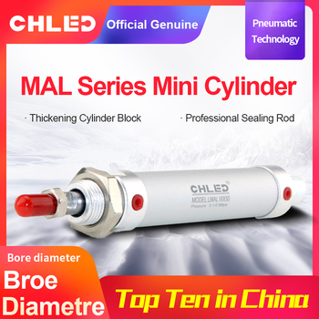CHLED MAL Series Mini Pneumatic Cylinder16/20/25/32/40mm Bore 25-300mmStroke Double Acting Aluminum Alloy pnumatic Air Cylinder mhc2 20s m5bspt bore 20mm sns pnumatic finger air claw cylinder smc type normally open single acting angular style air gripper