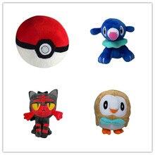 4 шт./компл. плюшевая кукла, чучело солнце», «Луна» мяч Popplio Литтен Rowlet детские игрушки станет желанным подарком для друзей