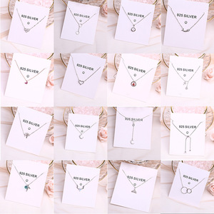 Popular Women Jewelry Necklaces 925 Sterling Silver Double-layer Clavicle Chain Pendant Necklace for Wedding Party Brithday Gift