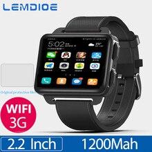 LEM4 Pro 2.2 inç ekran 3G akıllı saat Android 5.1 GPS WIFI 1GB + 16GB 1200Mah büyük pil Bluetooth Smartwatch erkekler kadınlar için