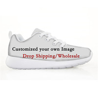 ELVISWORDS 3D Custom Children Shoes Kids Mesh Sneakers Drop Shipping