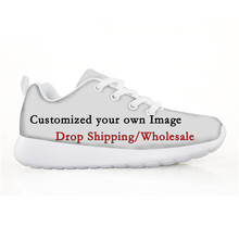 ELVISWORDS 3D Custom Children Shoes Kids Mesh Sneakers Drop