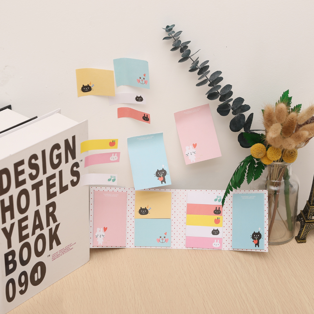 Cute Animal Sticker Post Bookmark Marker Memo Index Tab Sticky Notes Note Pads