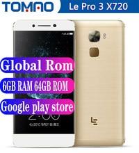 Letv – téléphone portable LeEco Le Pro 3, écran de 4070 pouces, smartphone, 4 go de RAM, 32 go de ROM, 64 go de ROM, processeur snapdragon 821 Quad Core, batterie de 5.5 mAh, caméra de 16 mpx, 4G LTE