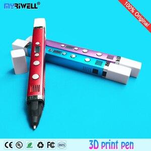 Image 2 - Myriwell 3d kalem + 10 renk * 10m ABS filamenti (100 m), 3d yazıcı pen 3d sihirli kalem, çocuklar için en iyi hediye, destek mobil güç kaynağı,