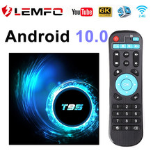 TV Box Android 10 4G 64GB 6K Smart TV Box YouTube Android TV Box 2G 16G Media Player Quad Core 1080P H.265 WiFi 2,4G T95 LEMFO