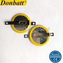 Batteries de pièces de monnaie en lithium pour jeux PCB, 100 pièces/lot, broches soudées SMD CR1616