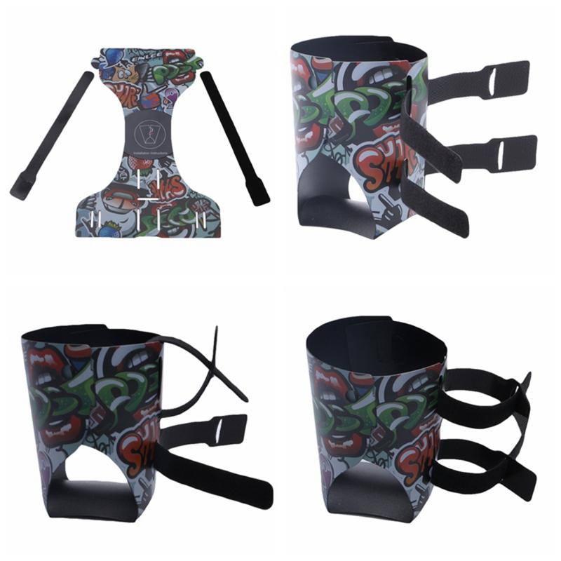 Colorful Portable Mountain Bike Folding Bicycle Kettle Cartoon Pattern Bottle Holder Bottle Cage Folding Cup Holder