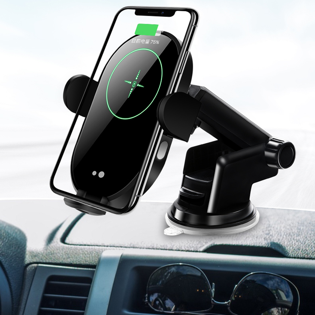 10W Car Fast <font><b>Qi</b></font> Wireless Charger For <font><b>iPhone</b></font> X 8 XS Max Automatic Clamping Car Phone Air Vent Holder For Samsung S10 S9 S8 image
