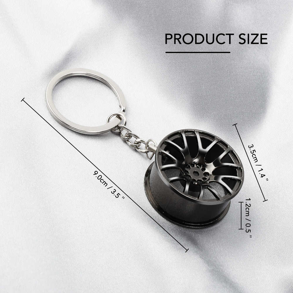 Jant anahtarlık lüks araba anahtarlık anahtarlık Audi BMW için Ford Volkswagen Toyota Renault Peugeot Mercedes Honda Mini