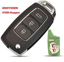 Xhorse jingyuqin XKHY05EN tel uzaktan anahtar Hyundai 3 düğmeler için İngilizce sürüm VVDI süper