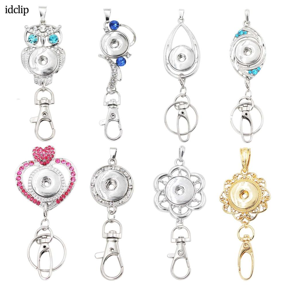 Idclip Office ID Badges Holder Lanyard Necklace Snap Jewelry Charms Pendant Clip