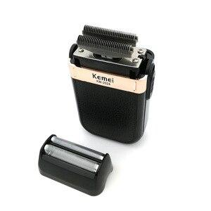 Image 4 - Kemei מכונת גילוח לגברים תאום להב עמיד למים הדדיות אלחוטי Razor USB נטענת גילוח מכונת בארבר גוזם