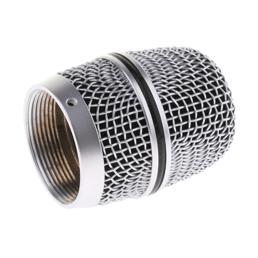 Steel Microphone Grill Head Windscreen Head Cover Grille For Mic Parts