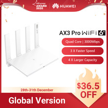 Versão global huawei wifi ax3 pro quad core wifi 6 + roteador sem fio wifi 5 ghz repetidor 3000 mbps amplificador nfc fácil configuração