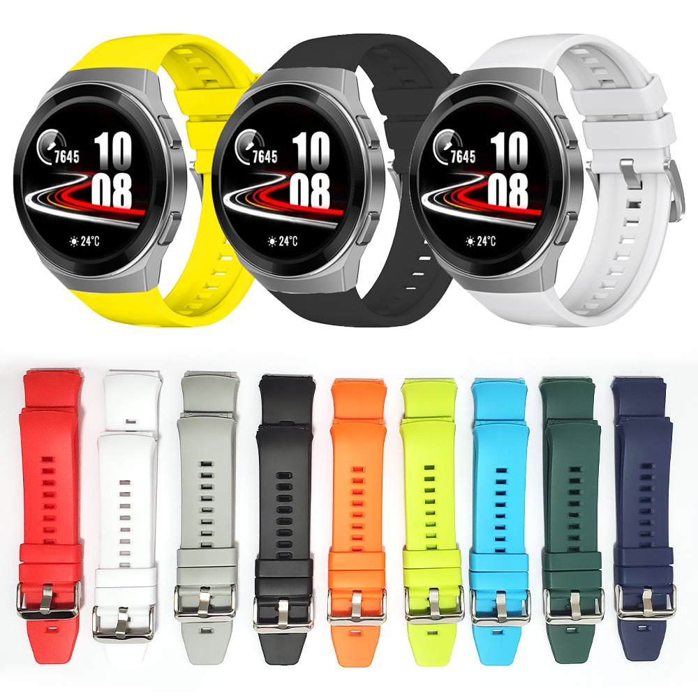 Official Style Silicone TPU Band For HUAWEI WATCH GT 2e GT2e Strap Wristband Replaceable Solid Color Watchband Belt ремешок