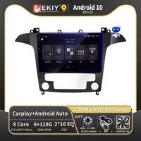 EKIY autoradio Android 10 Auto Stereo Multimedia per Ford s-max Ford S Max 2007 2008 autoradio navigazione GPS no 2 din 2din DVD