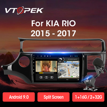 Vtopek 2din Android 9.0 2+32G Car Radio Multimidia Video Player Navigation GPS For Kia K3 Rio 2011-2017 Head Unit 2 Din No Dvd