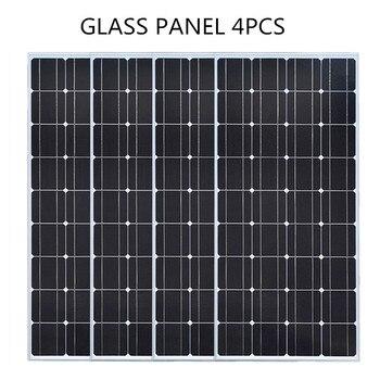 Glass Solar panel 200W equal 2pcs of 100W Monocrystalline solar cell 12V solar charger mono solar panel RV Home Boat 300W 400W 3