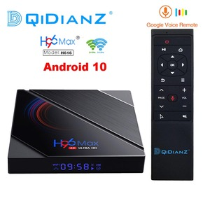 H96 max h616 caixa de tv inteligente android 10 4gb ram 64gb 1080p 4k bt googleplay loja youtube h96max media player conjunto caixa superior