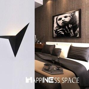 Image 4 - LED nowoczesny minimalistyczny trójkąt żelaza sztuki kształt kinkiety styl skandynawski kryty kinkiety oświetlenie do salonu 5W / 3W AC85 265V