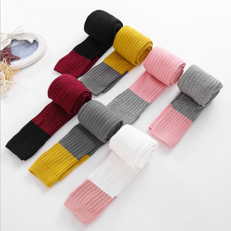 New Spring Autumn Warm Girl Leggings Knitted Cotton Baby Girls Pants Mix Color Children Kids Trousers For 1-8T 2