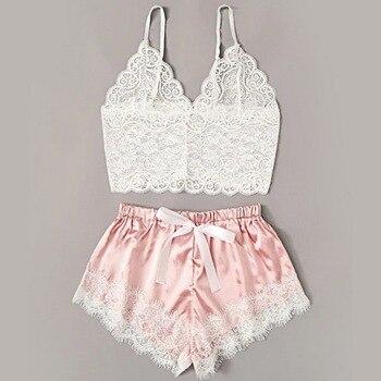 2020 Women Sexy Bra Set Ladies Sexy Lace Comfortable Polyester Sleepwear Underwear Tops Briefs Sets Lenceria Biquini