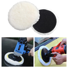 3/4/5/6/7 Inches Soft Car Polishing Disc Imitated Wool Car Body Waxing Polisher Pad Auto Maintenance Care Tools