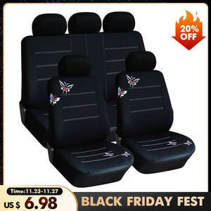 4/9 Pcs Butterfly Pattern Car Seat Covers compatible Fit Most Car, Truck, SUV, or Van 100% Breathable with 2 mm Composite