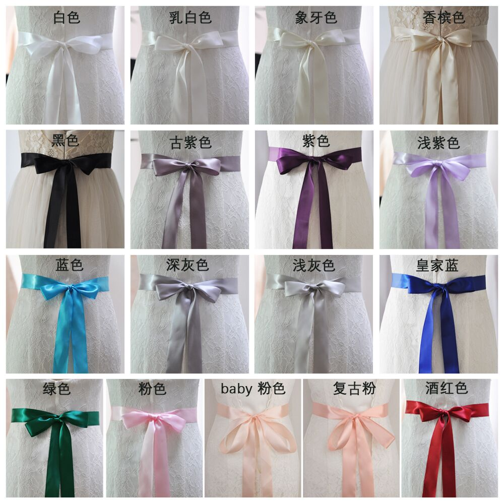 TOPQUEEN S40-4 New Stock Wedding Ribbon Sashs 4cm Width 19 Colors Ribbons For Dresses Satin Sashes Wedding Chair Sashes