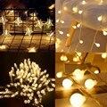 СВЕТОДИОДНЫЕ гирлянды светильник s 1,5 M 3m 6M Длина: 10 м Батарея работает Вишневый шар светильник свадьбы Хэллоуин Рождество на открытом воздухе комнаты гирлянды Декор