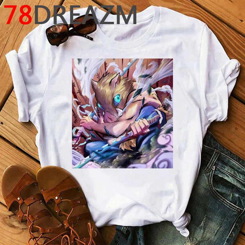 Demone Slayer T Degli Uomini Della Camicia Kimetsu No Yaiba Kawaii Anime Demon Blade Del Fumetto Lama di Fantasma Tshirt Fantasma Lama Grafici magliette Maschio