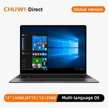CHUWI GemiBook, 13 inç, 2160*1440 ekran, Intel Celeron J4115 İşlemci, dört çekirdekli, LPDDR4X 12GB, 256GB SSD, Windows 10 dizüstü bilgisayar